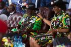 Zimbabwean President Robert Mugabe and his wife Grace. Photo / AP