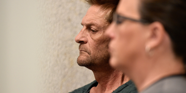 Adam Purinton appears by closed circuit TV in court from the Johnson County detention centre in Olathe, Kansas. Photo / AP