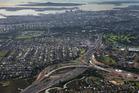 Waterview Interchange, Northwestern Motorway, towards Auckland CBD, Auckland. Photo / Brett Phibbs