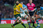 Australian loose forward Scott Fardy in action at the Rugby World Cup. Photosport