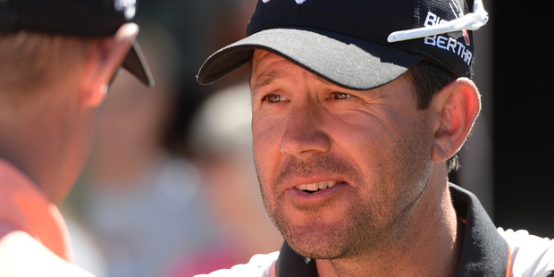 Cricketing great Ricky Ponting will play at the New Zealand Golf Open. Photo / Andrew Cornaga
