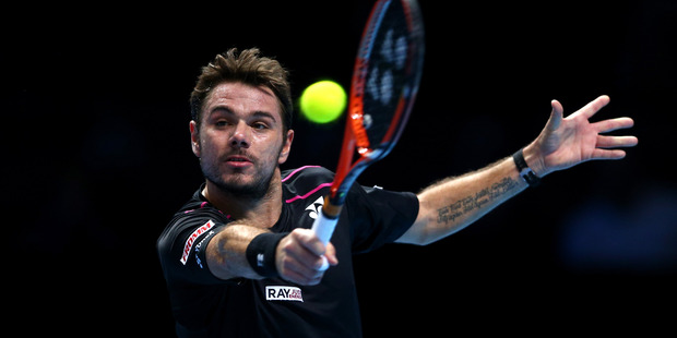 Stanislas Wawrinka during the Barclays ATP World Tour Finals. Photo / Getty Images