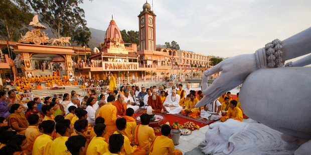 The spiritual centre of Rishikesh will host an international yoga festival in March. Photo / Getty Images