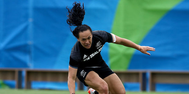 Portia Woodman was a standout on day one of the Las Vegas Sevens. Photo / Getty