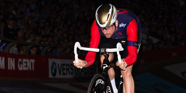 Bradley Wiggins in action for Team Sky. Photo / Getty Images.