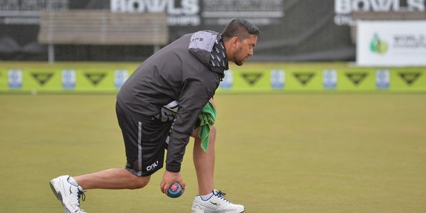 Shannon McIlroy bowls during the World Bowls Championships in Christchurch. Photo / Getty Images