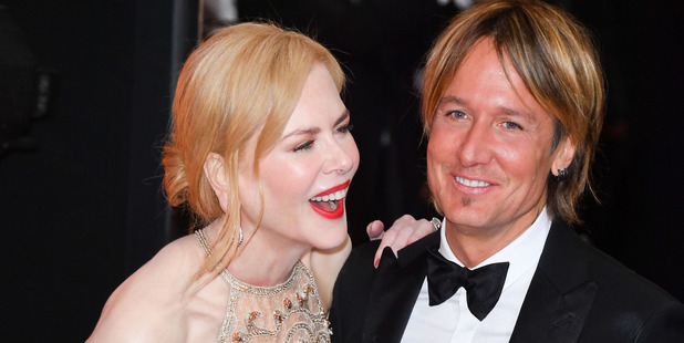 Nicole Kidman and her husband Keith Urban on the red carpet. Photo / Getty