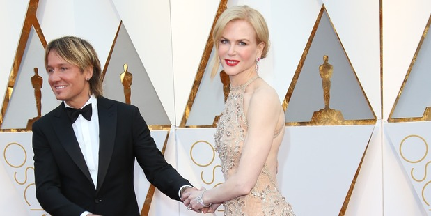 Singer Keith Urban (L) and actress Nicole Kidman. Photo / Getty