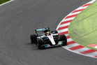 Lewis Hamilton on track during day two of Formula One winter testing. Photo / Getty Images