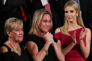 Widow of Fallen Navy Seal, Senior Chief William Owens, Carryn Owens and first lady Melania Trump attend a joint session of the U.S. Congress with U.S. President Donald Trump. Photo / Getty Images
