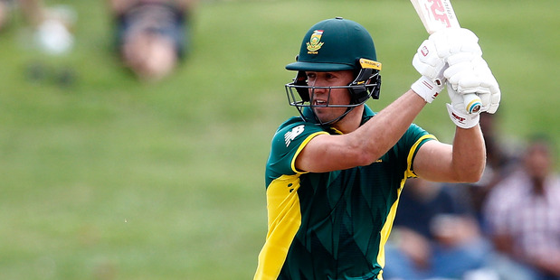 Loading AB de Villiers in action against the Black Caps at Seddon Park in Hamilton on Wednesday. Photo / Getty Images.