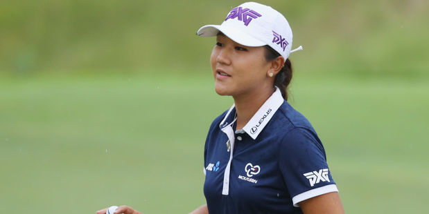 Lydia Ko of New Zealand makes birdie on the eighth hole during the third round. Photo / Getty