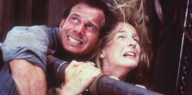 Bill Paxton and Helen Hunt in Twister. Photo / Getty