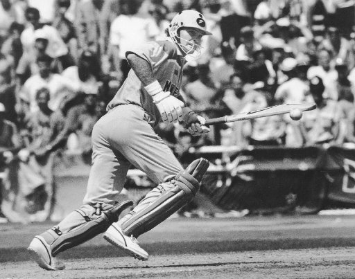 Martin Crowe on his way to a century against Australia. Photo / NZ Herald