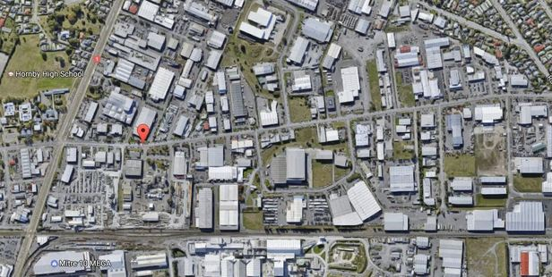 The man died at a workplace in Hornby, Christchurch.