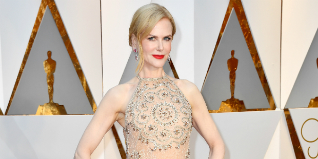 Nicole Kidman wore Armani Privé at the 89th Academy Awards. Photo / Getty