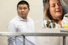 Peng Wang, 29, a Chinese national, is on trial at the North Shore District Court for careless driving causing injury to TV journalist Karen Rutherford last August 20.