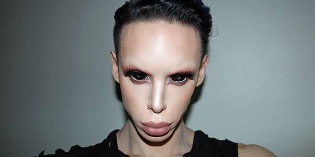 Makeup artist Vinny has plans to become a genderless alien. Photo / Caters