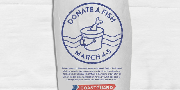 Donate a Fish campaign proceeds going to Coastguard from an auction at Silo markets on Sunday. Photo / supplied
