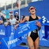 Andrea Hewitt wins the ITU World Triathlon Abu Dhabi ina sprint finish from Briton Jodie Stimpson. Picture / ITU