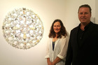 Lianne Edwards has created 11 artworks from rubbish collected by Sea Cleaners founder Hayden Smith.