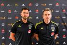 Des Buckingham and Chris Greenacre during the Wellington Phoenix. Photo / Photsport