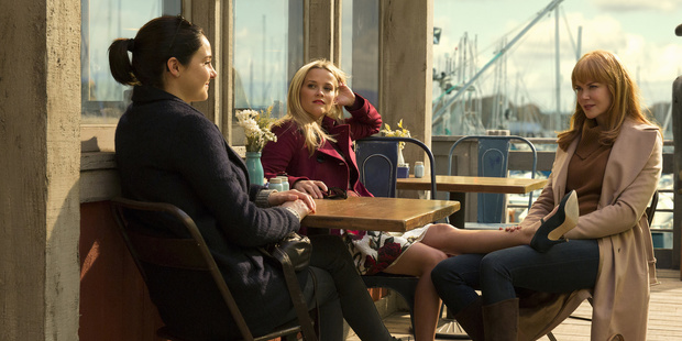 Shailene Woodley, Reese Witherspoon and Nicole Kidman star in Big Little Lies.