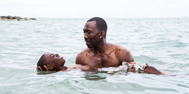Mahershala Ali as Juan with Chiron, the boy, played by Alex R. Hibbert. Photo / Supplied