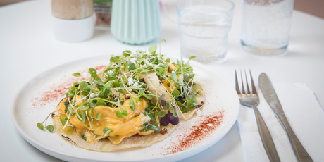 The Chilaquiles taco from Scout Cafe in Torbay. Photo / Greg Bowker
