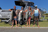 Red Blakbly, Mat Whelan, Michelle Witte and Josh Tesselaar with their winning catches. Photo/George Novak