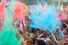 The Holi Festival of Colours was held at the Hare Krishna Temple near Kumeu. Photo / Dean Purcell