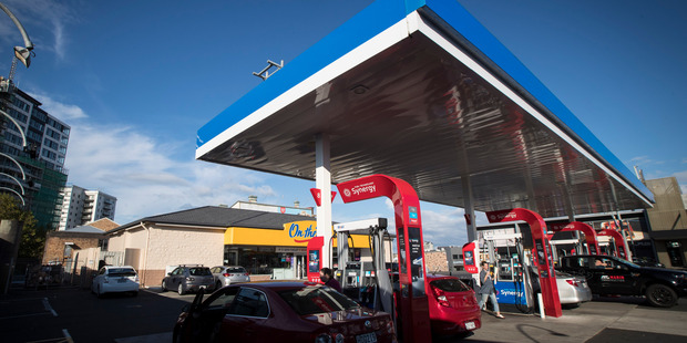 Mobil Gas station on the corner of Ponsonby and K' Rd where a woman was last seen on Sunday morning. Picture / Jason Oxenham