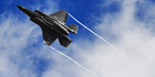 An F-35 Lightning II performs a manoeuvre. Photo / US Air Force