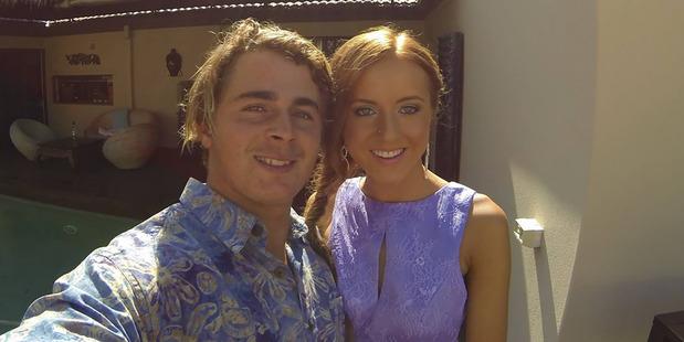 Sam Brown and his girlfriend Tarsha Wild. Photo / Facebook