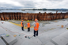 TIDAL STAIRS: Tauranga's new waterfront feature is on track to be finished by April. PHOTO / GEORGE NOVAK
