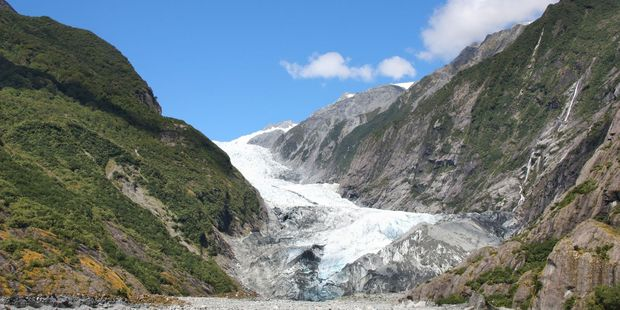 Franz Josef Glacier in Southern Alps mountains. Photo / File