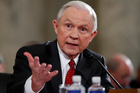 Then Attorney General-designate Sen. Jeff Sessions testifying on Capitol Hill. Photo / AP