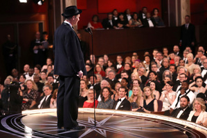 Mark Rylance presents the award for best actress in a supporting role at the Oscars. Photo / AP