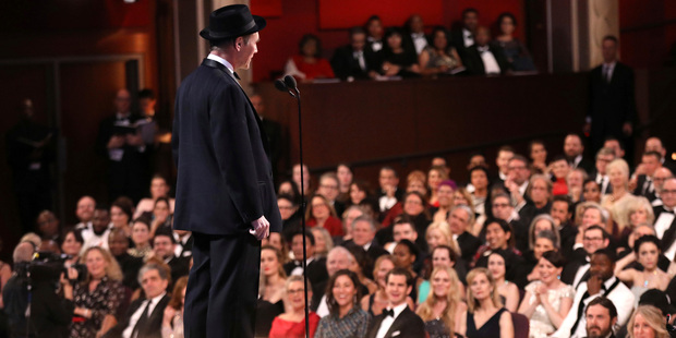 Loading Mark Rylance presents the award for best actress in a supporting role at the Oscars. Photo / AP
