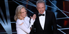 Faye Dunaway and Warren Beatty presented the award for best picture. Photo / AP