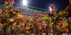 Performers from the popular Salgueiro samba school parade during Carnival celebrations at the Sambadrome in Rio de Janeiro, Brazil. Photo / AP