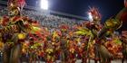 Performers from the popular Salgueiro samba school parade during Carnival celebrations at the Sambadrome in Rio de Janeiro, Brazil. Photo / AP