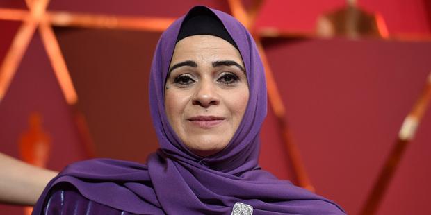 Hala Kamil arrives at the Oscars. Photo / AP