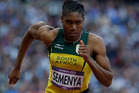 South Africa's Caster Semenya competes in the women's 800-meter semifinal. Photo / AP
