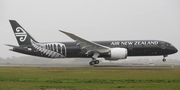Loading Air New Zealand Boeing 787-9 Dreamliner touches down at Auckland Airport. NZ Herald file pic.