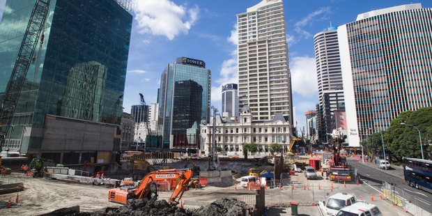The $850m Commercial Bay building site in Downtown Auckland. Photo/Jason Oxenham