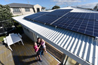 SUN POWER: Solar power panels on the roof of a newly-built home. PHOTO/FILE