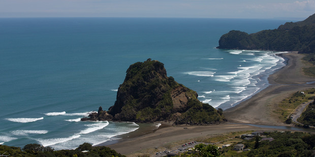 Piha - a popular surfing beach with a permanent population of about 600 now has a estimated median value of more than $1m Photo / Supplied