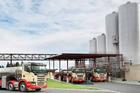 Westland Milk factory and milk tankers at Hokitika. Photo / File