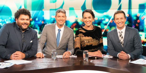 The hosts of The Project NZ with special guest Rove.